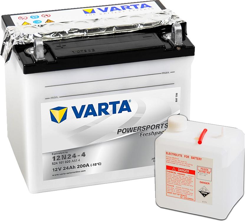 Varta Powersports FP 524101020 12N24-4 12V 24Ah 200 A