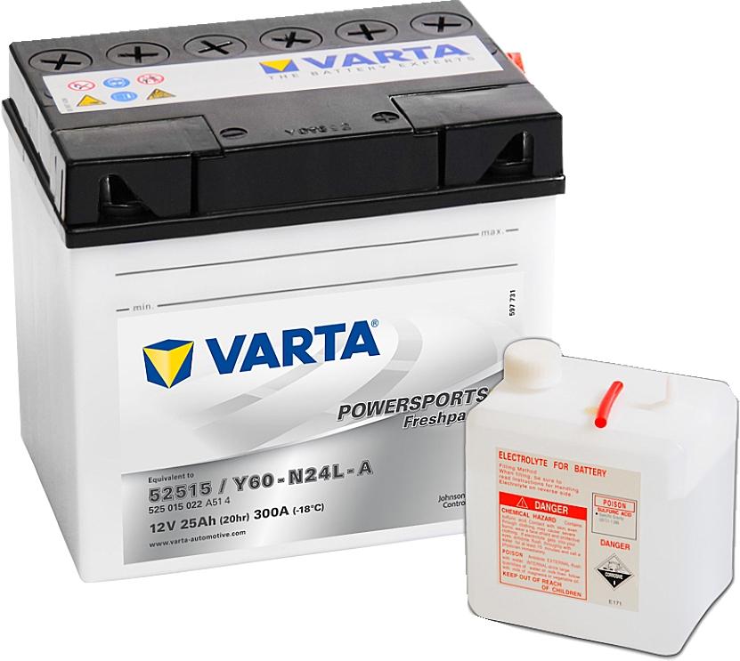 Varta Powersports FP 525015022  52515 12V 25Ah 300 A