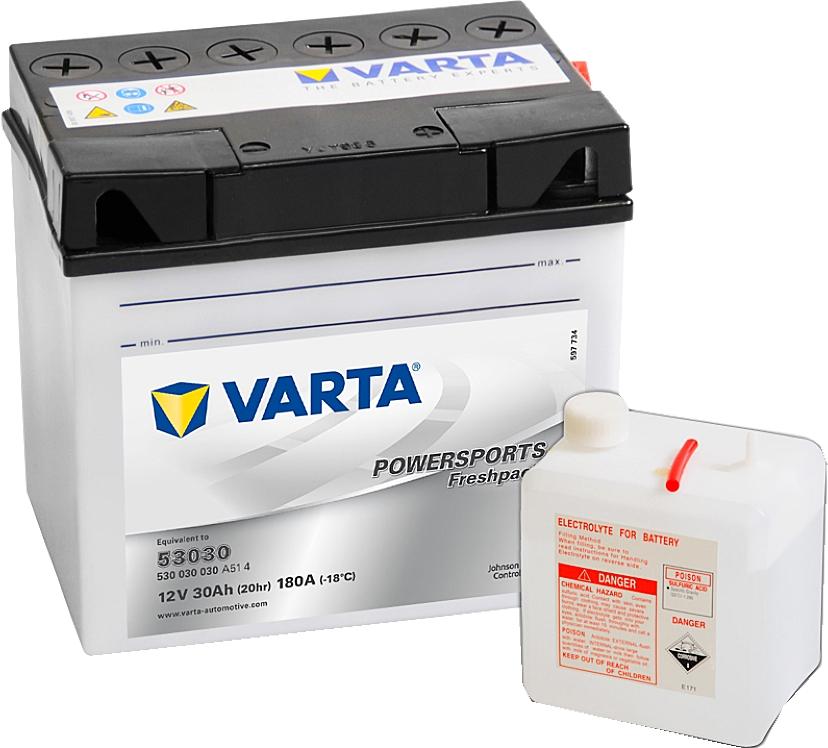 Varta Powersports FP 530030030 53030 12V 30Ah 180 A