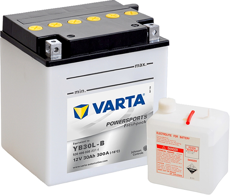 Varta Powersports FP 530400030 YB30L-B 12V 30Ah 300 A
