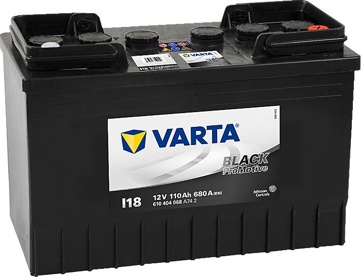 Varta I18 ProMotive Black 12V 110Ah 680A 610404068