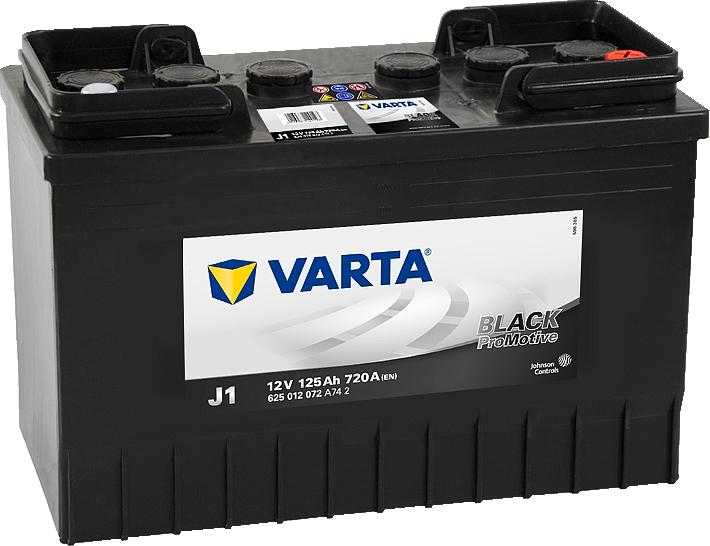 Varta J1 ProMotive Black 12V 125Ah 720A 625012072