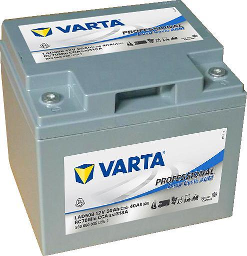 Varta LAD50B Professional DeepCycle AGM 12V 50Ah 318A 830050035