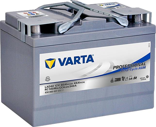 Varta LAD60A Professional DeepCycle AGM 12V 60Ah 340A 830060037