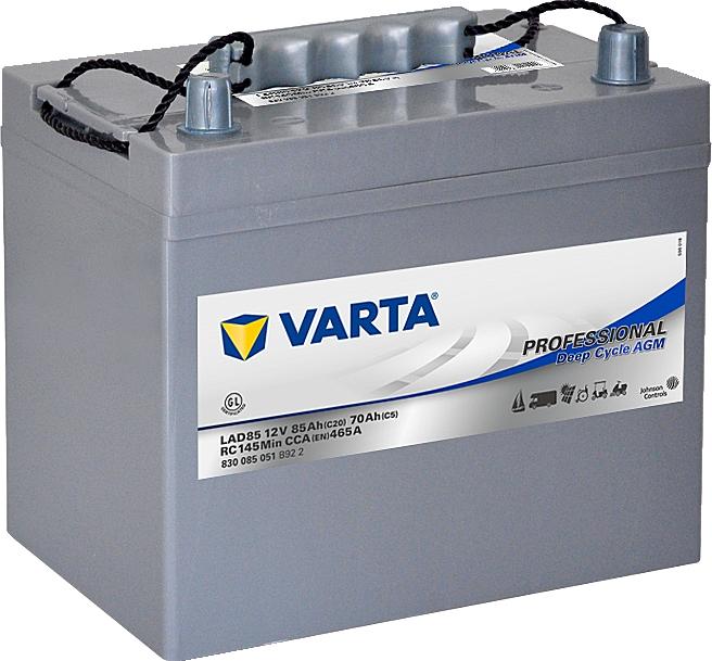 Varta LAD85 Professional DeepCycle AGM 12V 85Ah 465A 830085051