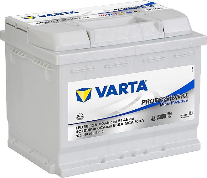Varta LFD 60 Professional Deep Cycle12V 60Ah 930060056