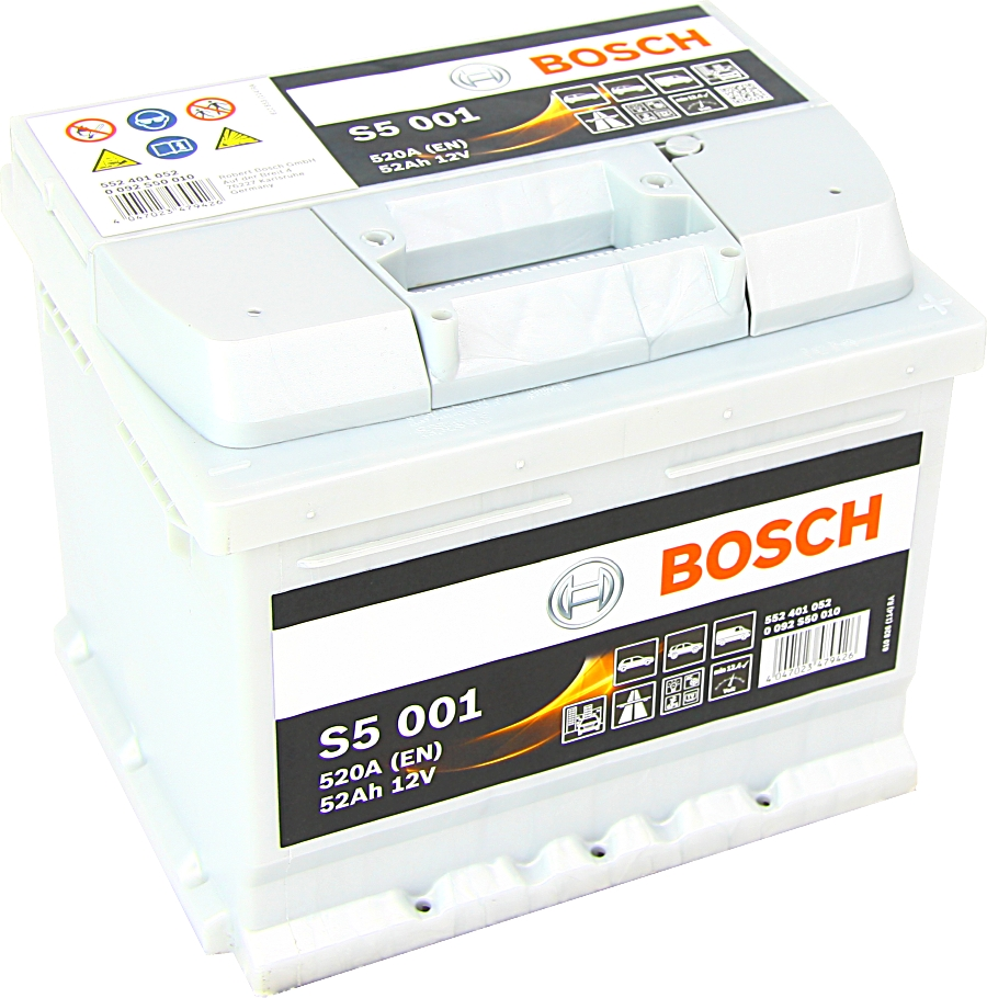 Bosch S5001 12V 52Ah 520A 0092S50010