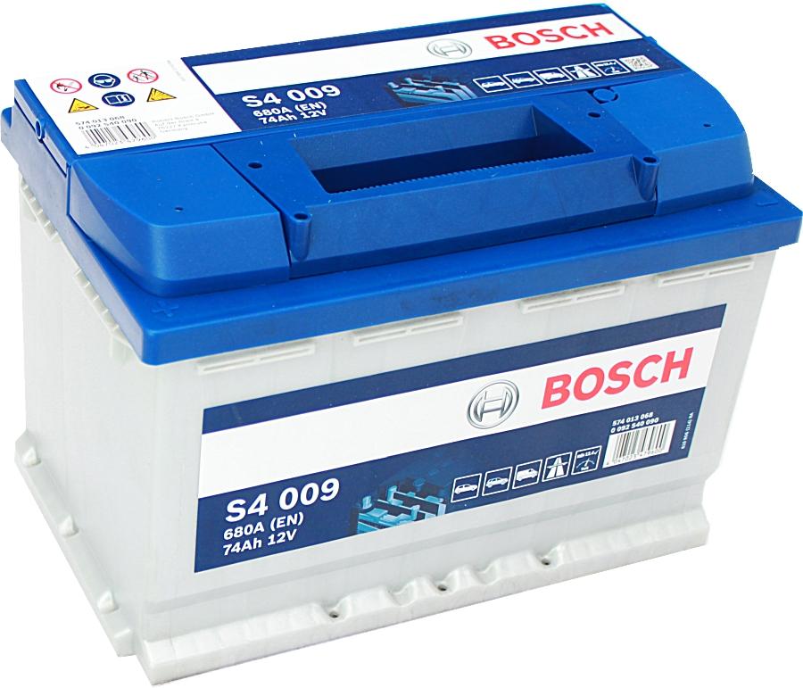 Bosch Silver S4009 12V 74Ah 680A 0092S40090 Pluspol links