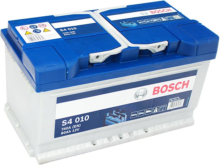 Bosch Silver S4010 12V 80Ah 740A 0092S40100