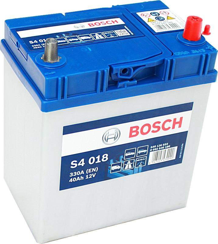 Bosch Silver S4018 12V 40Ah 330A 0092S40180