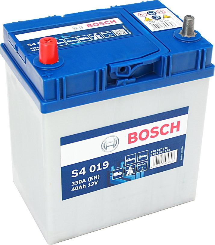 Bosch Silver S4019 12V 40Ah 330A 0092S40190 Pluspol links