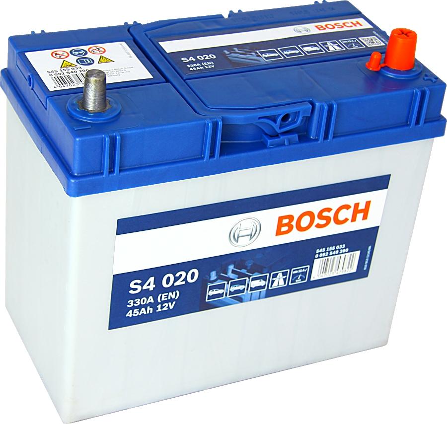Bosch Silver S4020 12V 45Ah 330A 0092S40200