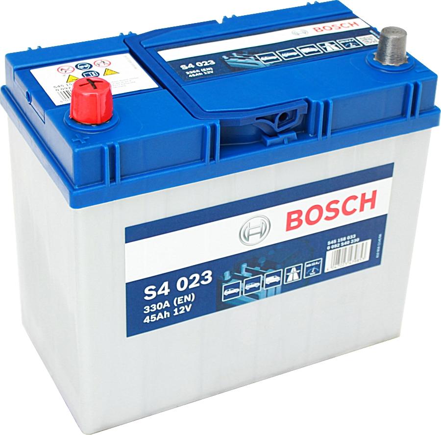 Bosch Silver S4023 12V 45Ah 330A 0092S40230 Pluspol links