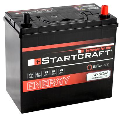 autobatterie startcraft asia 54584 12v 45ah 360a g nstig. Black Bedroom Furniture Sets. Home Design Ideas