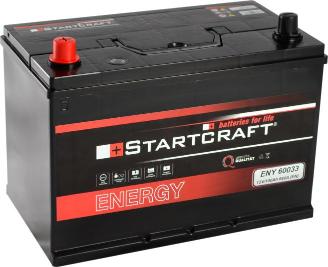 Startcraft Energy Asia 60033 12V 100Ah 680A Pluspol links