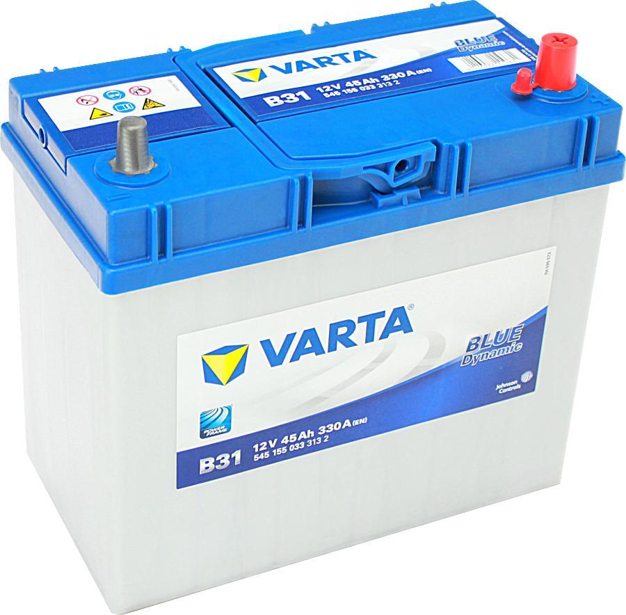 autobatterie varta b31 blue dynamic 12v 45ah 330a. Black Bedroom Furniture Sets. Home Design Ideas
