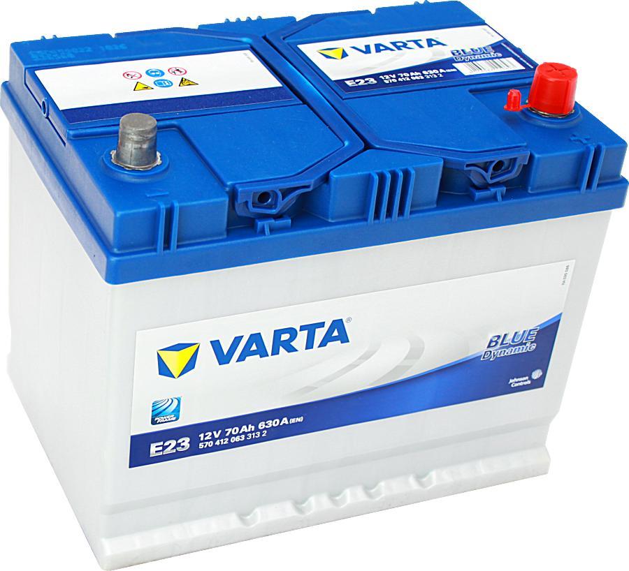 Varta E23 Blue Dynamic 12V 70Ah 630A 570412063
