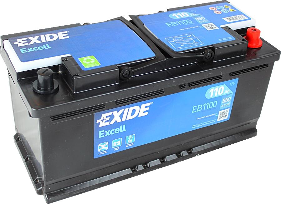 EXIDE EB1100 EXCELL 12V 110Ah 850A