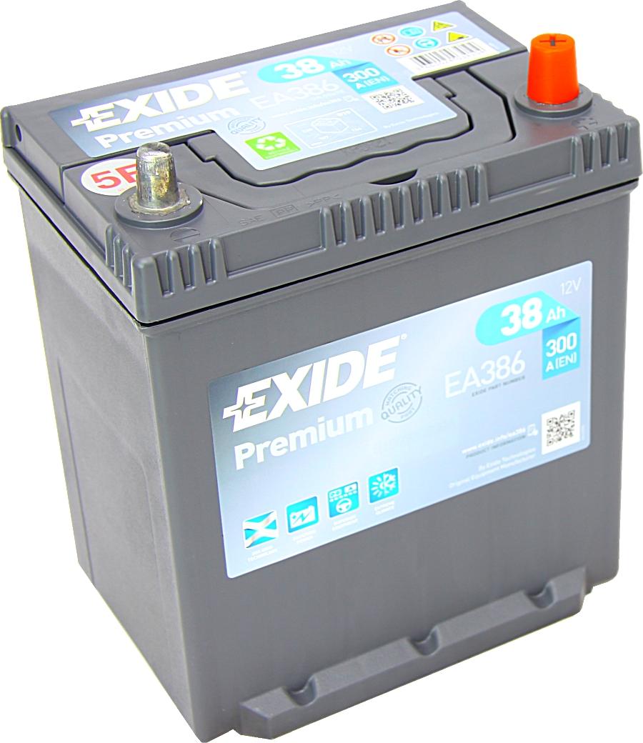 EXIDE EA386 Premium 12V 38Ah 300A