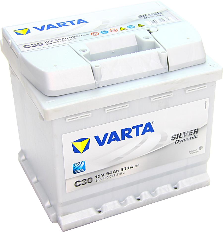 Varta C30 Silver Dynamic 12V 54Ah 530A 554400053