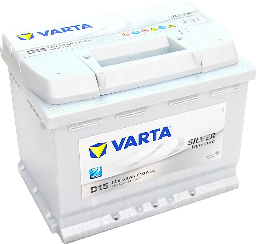 autobatterie varta silver dynamic d15 12v 63ah 610a g nstig kaufen. Black Bedroom Furniture Sets. Home Design Ideas