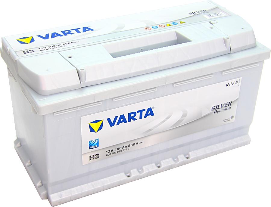 Varta H3 Silver Dynamic 12V 100Ah 830A 600402083