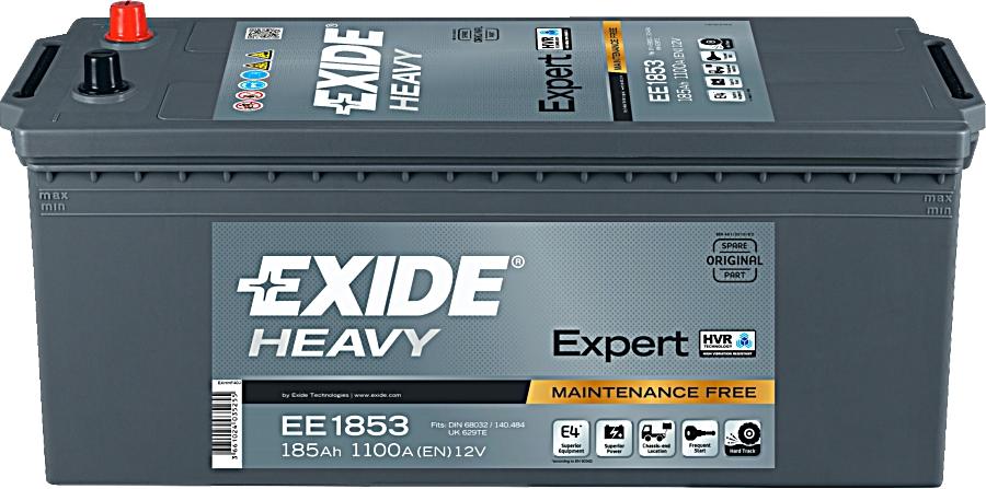 EXIDE EE1853 Heavy Expert HVR 12V 185Ah 1100A