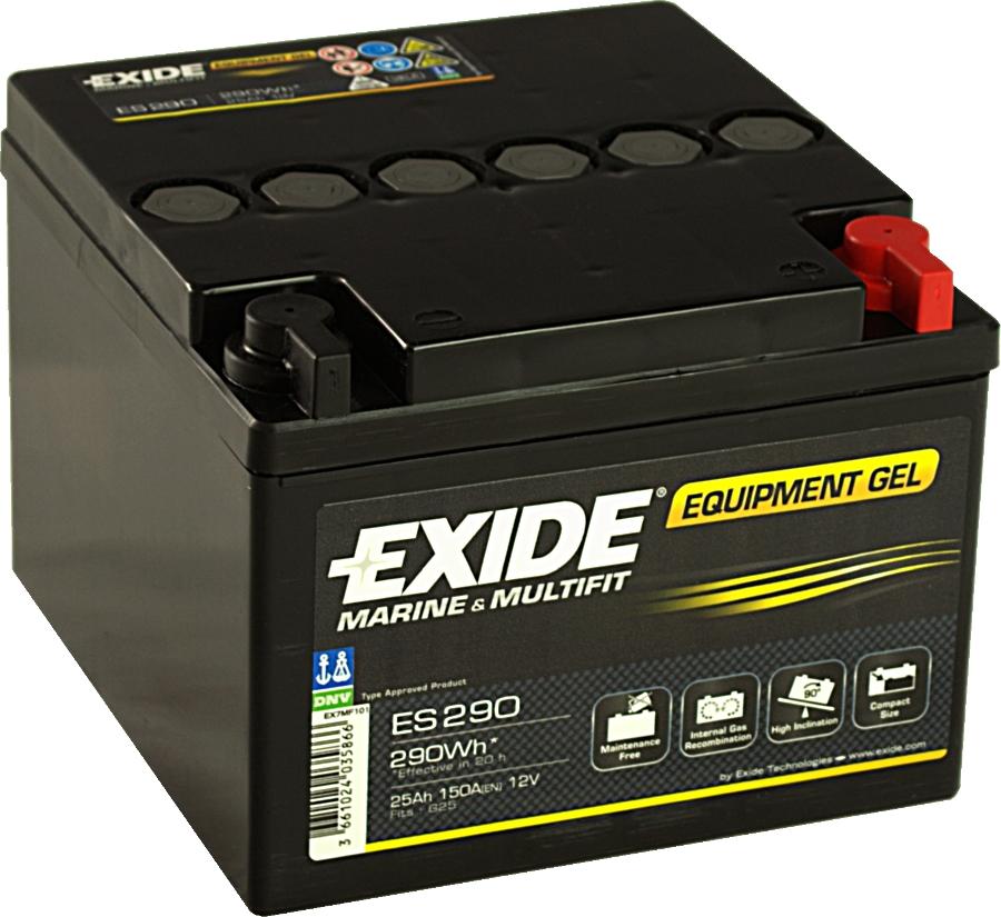 EXIDE ES290 GEL Equipment 12V 25Ah 290Wh Gelbatterie