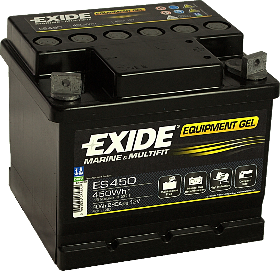 EXIDE ES450 GEL Equipment 12V 40Ah 450Wh