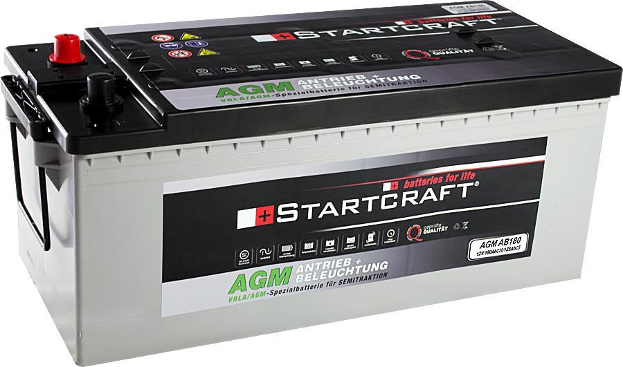 Startcraft AGM AB180 Antrieb + Beleuchtung 12V 180Ah