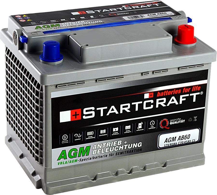 Startcraft AGM AB60 Antrieb + Beleuchtung 12V 60Ah
