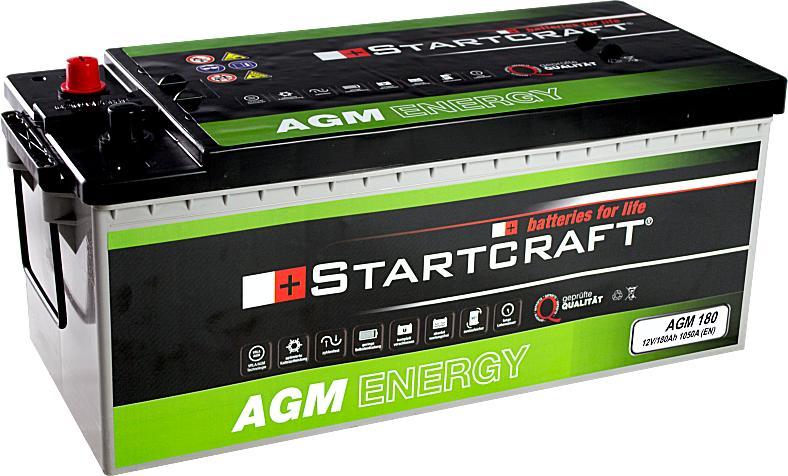 Startcraft AGM180 12V 180Ah 1050A Vliesbatterie
