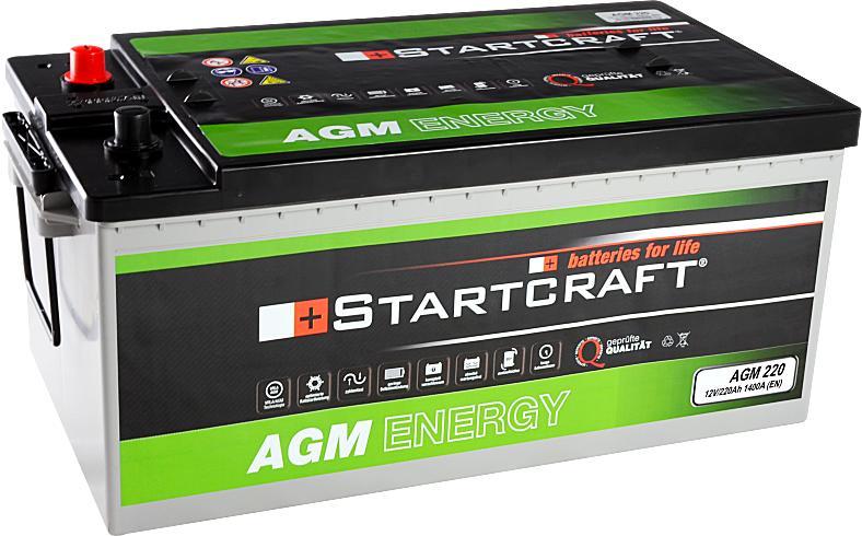 Startcraft AGM220 12V 220Ah 1400A Vliesbatterie