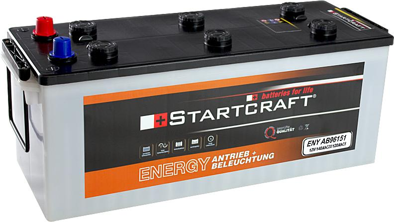 Startcraft Antrieb und Beleuchtung 12V 120Ah (c5) 12V 140Ah (c20)