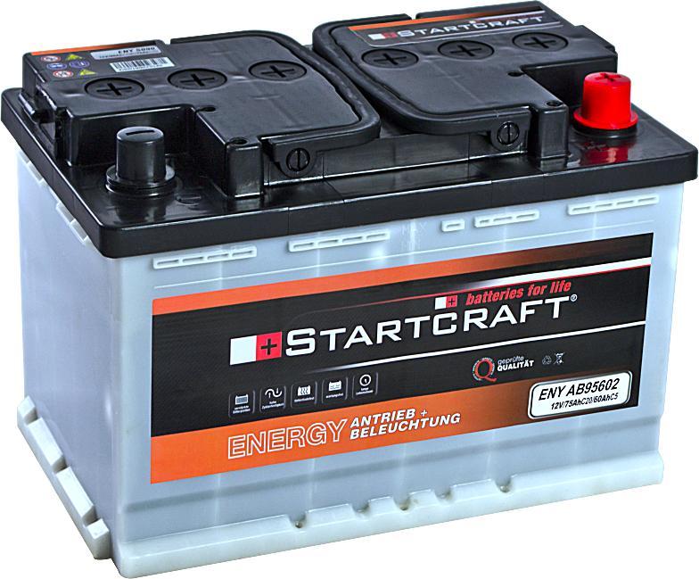 Startcraft Antrieb und Beleuchtung 12V 60Ah (c5) 75Ah (c20)