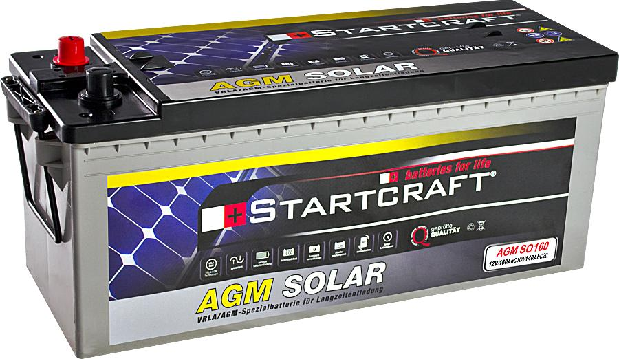 Startcraft SOLAR AGM SO160 12V 160Ah