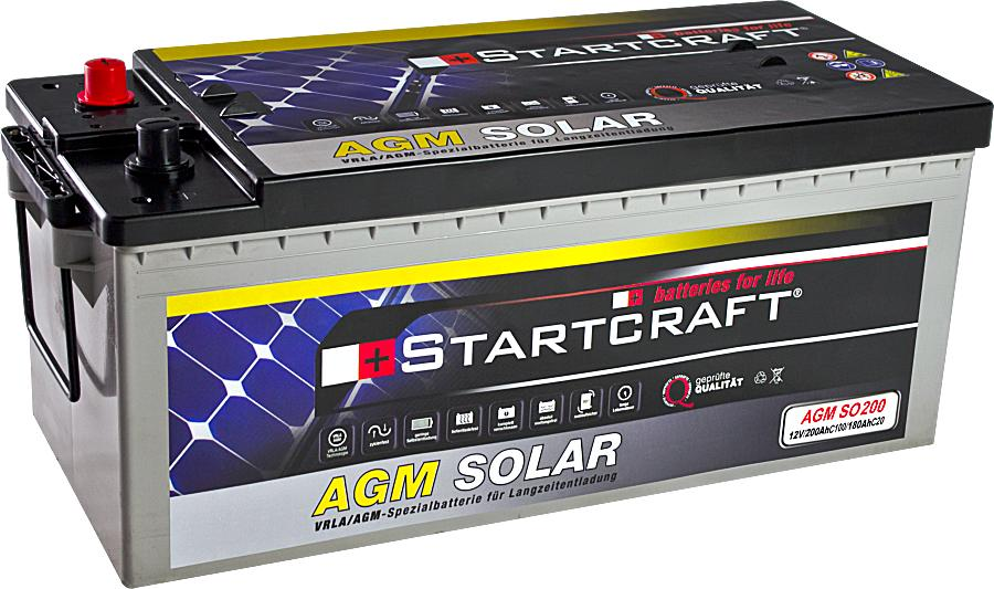 Startcraft SOLAR AGM SO200 12V 200Ah