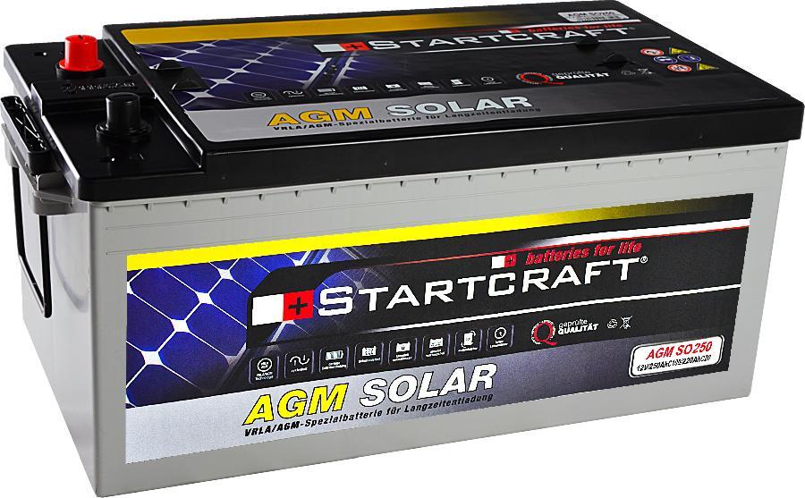 Solarbatterie Startcraft SOLAR AGM SO250 12V 250Ah
