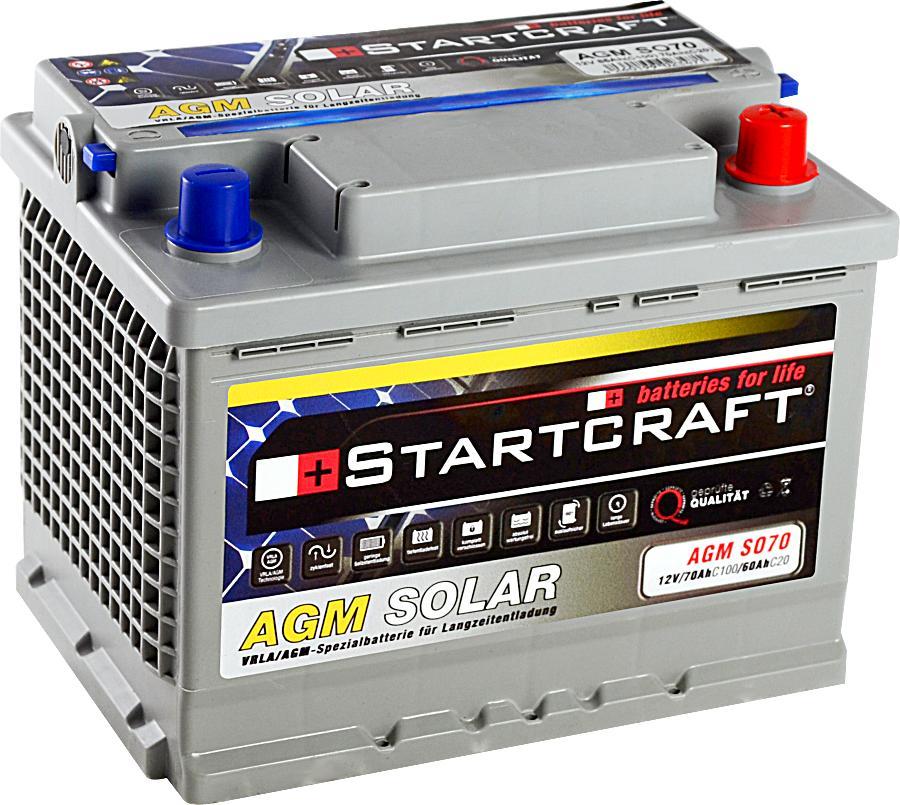Solarbatterie Startcraft SOLAR AGM SO70 12V 70Ah