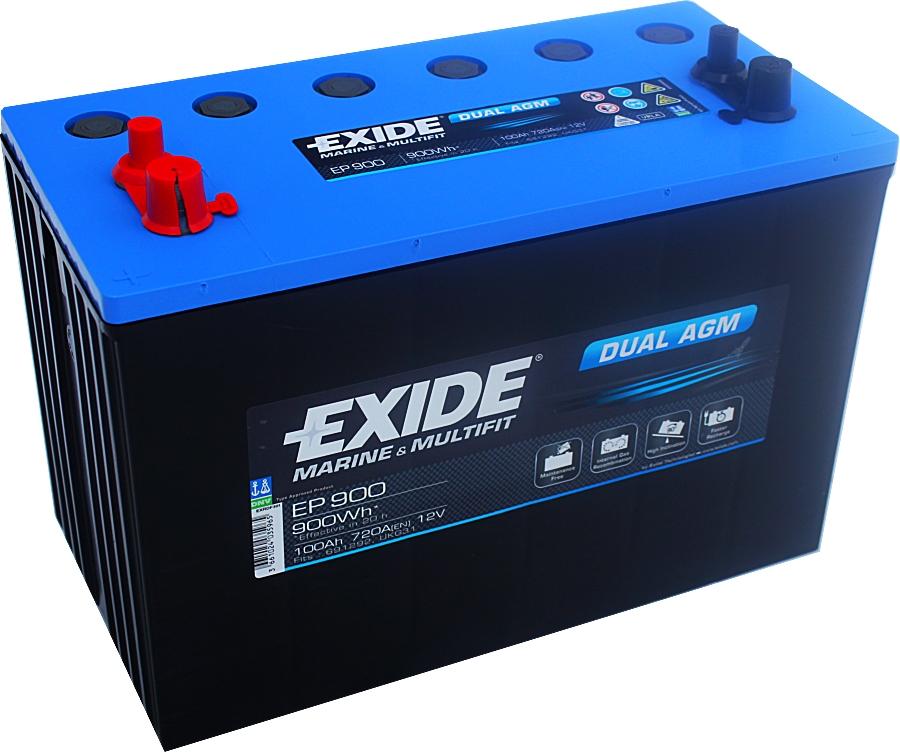 Exide EP900 Dual AGM 12V 100Ah 720A 900Wh