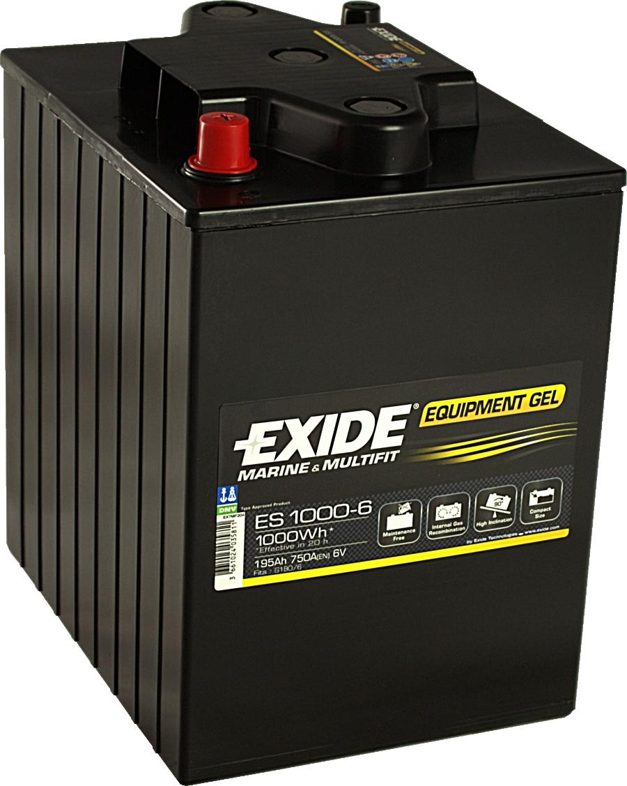 EXIDE ES1000-6 GEL Equipment 6V 195Ah 1000Wh