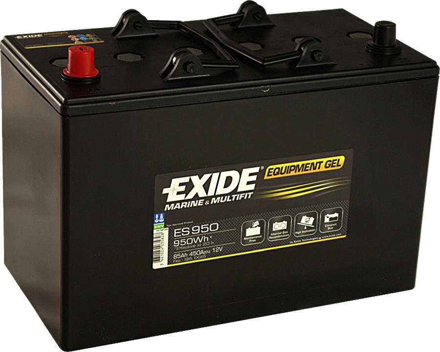 EXIDE ES950 GEL Equipment 12V 85Ah 950Wh