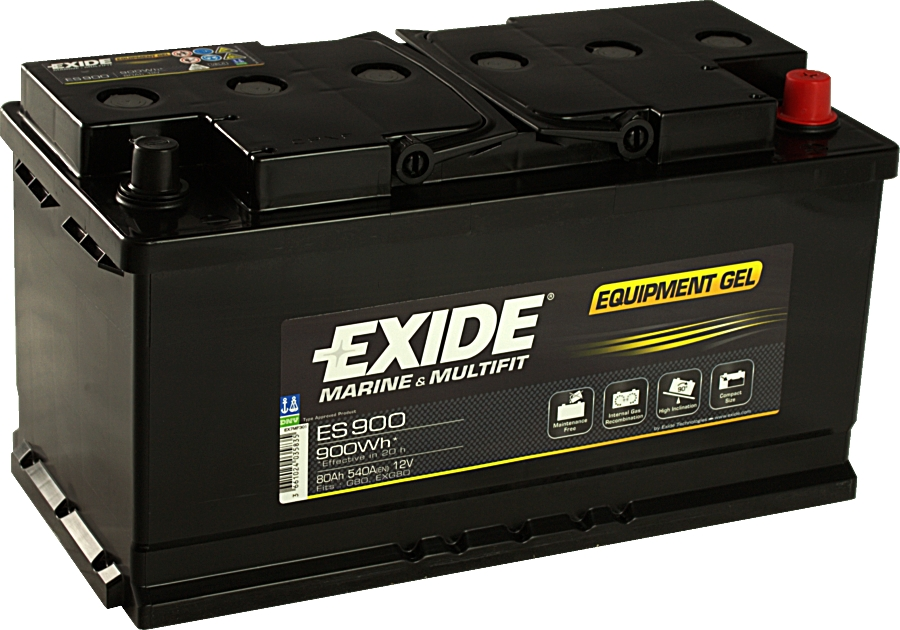 EXIDE ES900 GEL Equipment 12V 80Ah 900Wh
