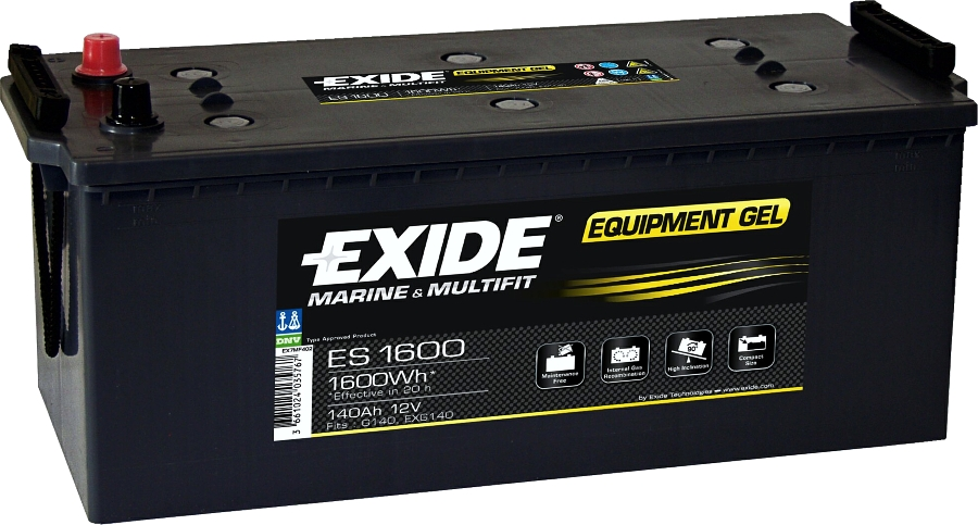 EXIDE ES1600 GEL Equipment 12V 140Ah 1600Wh